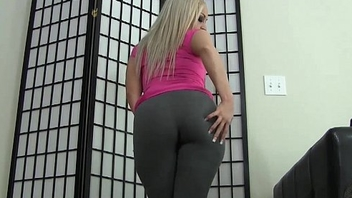 Let me tease your cock less my tight yoga pants JOI