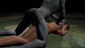 Busty 3D cartoon babe drilled hard gone away from by a zombie