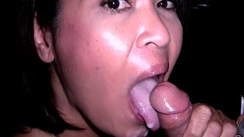 Asian Mother &amp_ Step Daughter Real Gloryhole Compilation