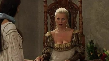 Beamy Titted Countess Ruling Over Her Slaves