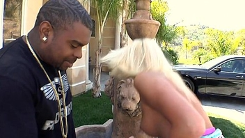 Blonde Euro Babe tries America Black Meat