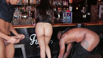 Bartender is a black cock slave