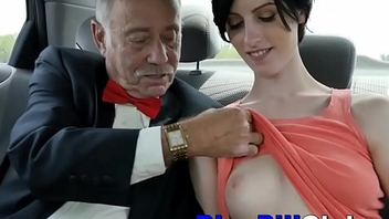 Spoiled Teen Threesome With 2 Old Grandpas