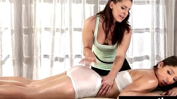 Massage therapist giving her patient some illiterate love 22