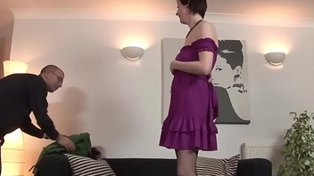 Milf thither stockings pussyfucked on eradicate affect floor