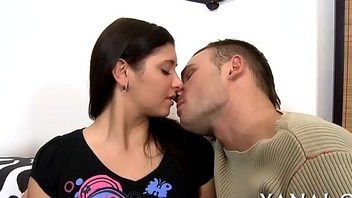 Curious hotty gets anal slammed