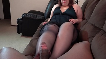Jennifer Tease and Denial Hose Footjob