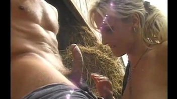 Hot blonde rider ridden off out of one's mind horny cock back a stable
