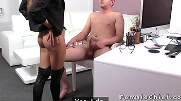 Dude licks limbs to slim sissified agent and gets spanked