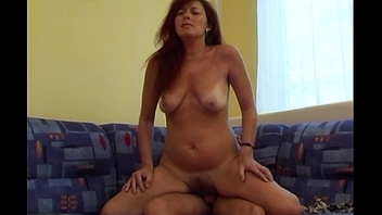 Horny Redhead Stepmom Has Sex With Me In Our Living Room