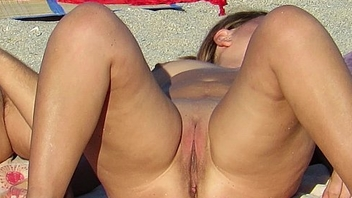 Gorgeous Second-rate Nude Beach Voyeur Close Take Pussy