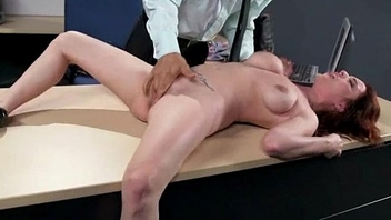 Milf was hard fucking vulnerable office desk 1